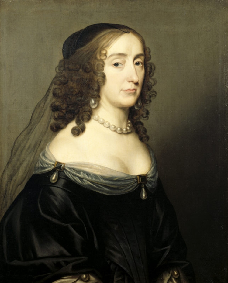 ELIZABETH OF BOHEMIA by Honthurst at Ashdown House