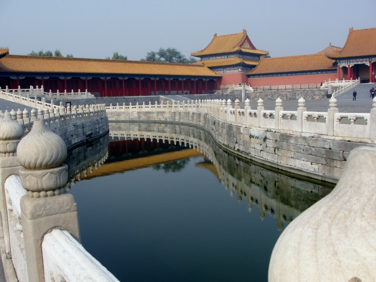 29-01, Reflections in a Moat, Forbidden City, Beijing