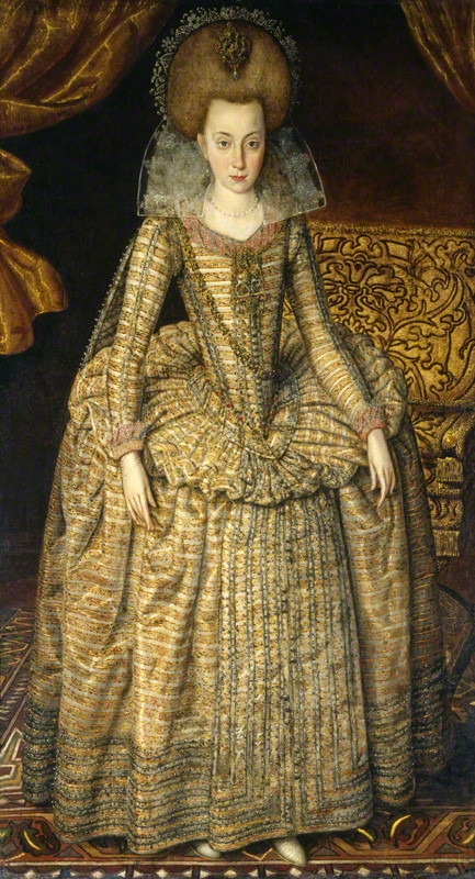 NPG 6113; Elizabeth, Queen of Bohemia by Robert Peake the Elder