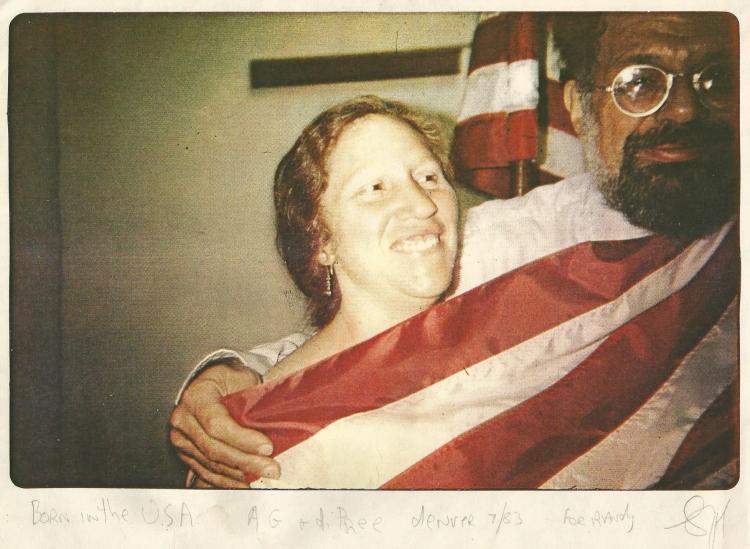 33 02 Diane di Prima and Allen Ginsberg