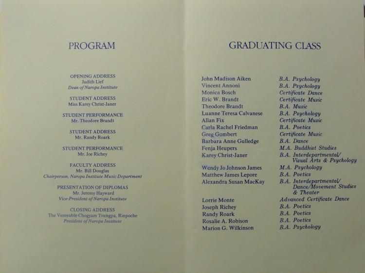 33 03 Graduation Program 1983