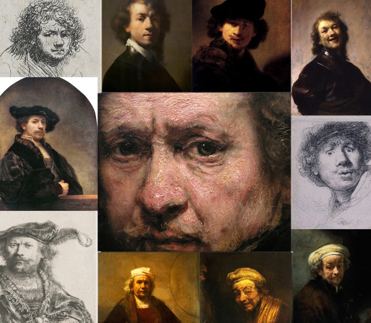 Image 10_Rembrandt details of self portraits