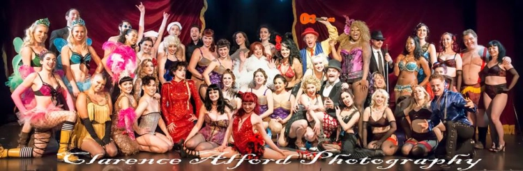 Hollywood Burlesque Festival group shot