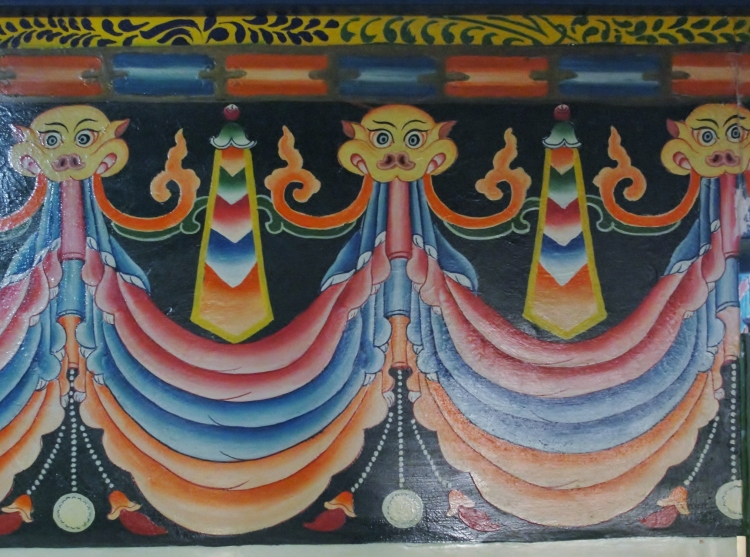 40-04 Wall Painting, My Hotel Room, Lhasa