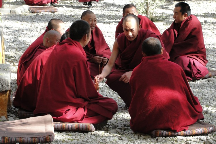 41-05 Monks debating, Sera Monastery