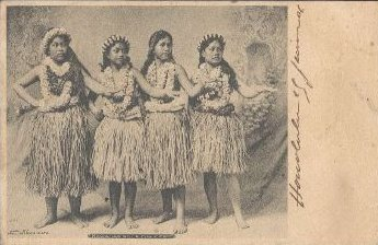 Hawaii 1906 Postcard Hawaian Hula Dancer
